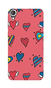 ZAPCASE PRINTED BACK COVER FOR HTC DESIRE 820 - Multicolor