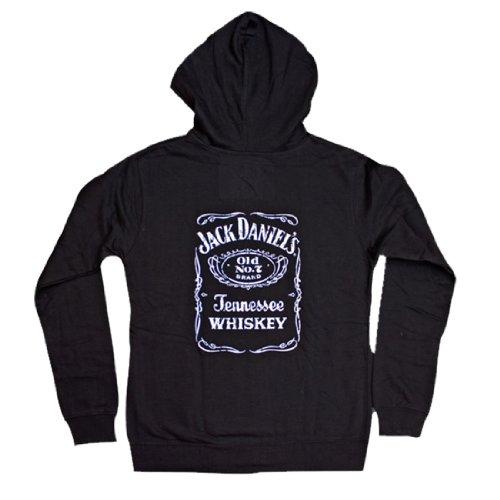 Jack Daniels-Felpa con cerniera, da donna, con etichetta