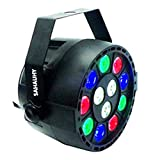 LED Par Lights,SAHAUHY RGBW 12 Led Stage Lights Sound Activated DMX Color Mixing Up Lighting