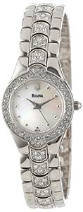 (闪耀)Bulova 宝路华96T14 日本机芯施华洛世奇水晶镶嵌珍珠表盘女士手表 $108.31