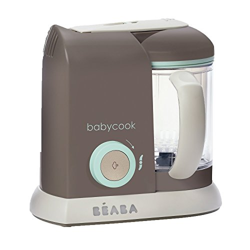BEABA Babycook 4 in 1 Steam Cooker and Blender, 4.5 cups, Dishwasher Safe, Latte Mint (Steamer And Blender Baby compare prices)