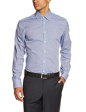 Venti Herren Slim Fit Businesshemd 001860, Gr. Kragenweite: 37, Blau (blau 101)