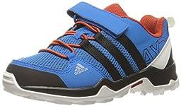adidas Outdoor Boys\' AX2 CF Hiking Boot, Shock Blue/Black/Craft Chili, 12.5 M US Little Kid