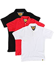 Campus Sutra Men Combo Polo Neck Tshirt Pack Of 3 - B00QSD7JKW