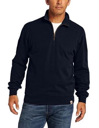 Carhartt Men's Big & Tall Sweater Knit Quarter Zip, Navy, XX-Large Tall