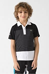 Boy's Short Sleeve Andy Roddick Super Dry Stripe Polo