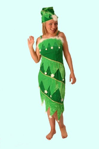 Ladies Costume: Christmas Tree Dress with Hat