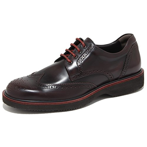6522N scarpa HOGAN H217 ROUTE DERBY bordeaux scarpe uomo shoes men [10]