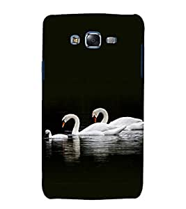 printtech Nature Bird Swan Back Case Cover for Samsung Galaxy A3 /Samsung Galaxy A3 A300F