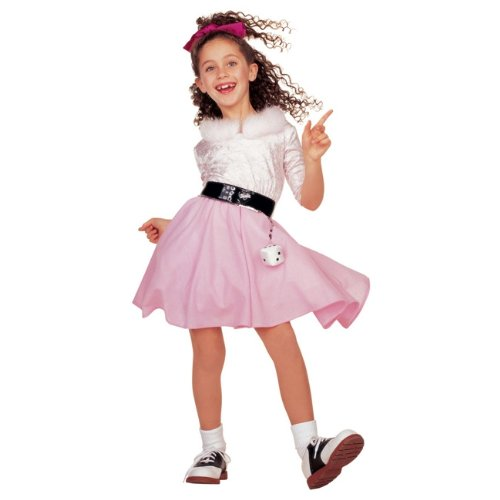 [Child 50s Girl Barbie Poodle Costume] (Best 50s Costumes)