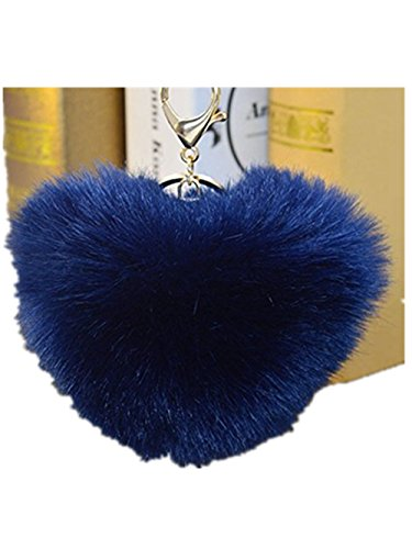 xy-fancy-quality-wool-heart-shaped-ball-key-chains-car-key-ring-bag-jeans-pendant-navy