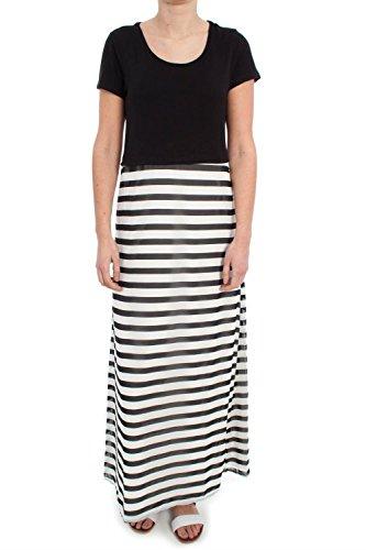 Only Malika Long Dress donna, vestiti/abiti: vestito lungo, nero, 40 EU