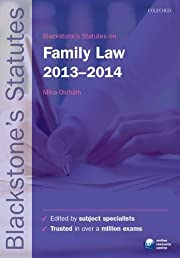 Blackstone's Statutes on Family Law 2013-2014 (Blackstone's Statute Series)