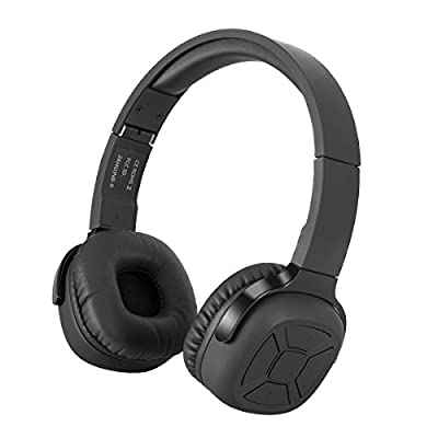 Uchoir On Ear Headphones, Wireless Bluetooth 4.0 Stereo Headsets, Over 40 Hours Playback Foldable Lightweight Headphones with Built-in Mic and Smart Pedometer for iOS and Android