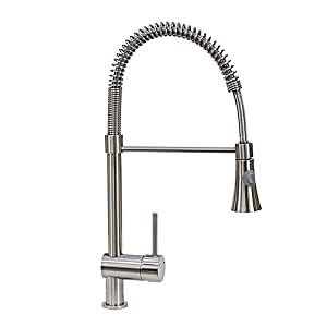 FREUER Lavoro Collection: Pull Down Spray Kitchen Sink Faucet, Brushed