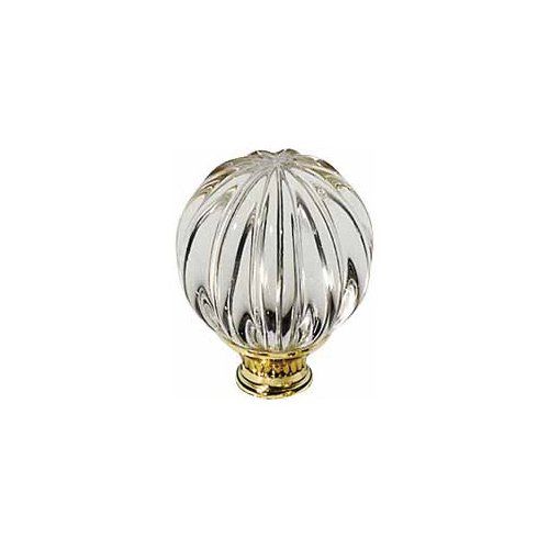 Baldwin 4304.030 Fluted Swarovski Crystal Ball 1-3/16-Inch Diameter Cabinet Knob, Polished Brass - Lacquered (Baldwin Cabinet Hardware compare prices)