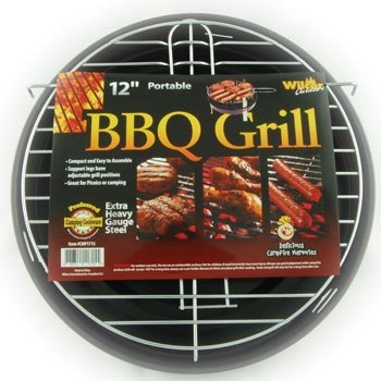 BBQ Grill 12-inch, Adjustable Portable Charcoal Grill with Legs