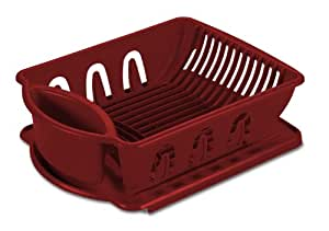 Sterilite 06215806 2-Piece Sink Set, Classic Red 6-Pack