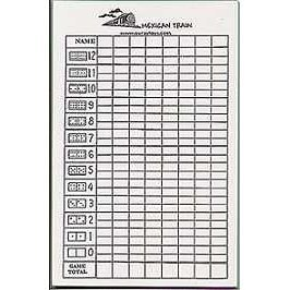 Mexican Train Score Pad
