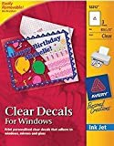 Avery Clear Decals for Windows, 8.5 x 11 Inches, Pack of 3 (53212)