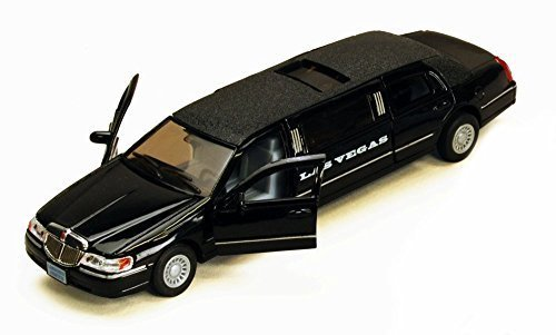 1999-las-vegas-lincoln-town-car-stretch-limousine-black-kinsmart-7001klv-1-38-scale-diecast-model-to