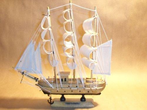 Mayflower Model Ship ~ Sailboat ~ Wood Sail Boat 9