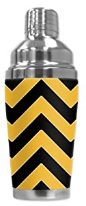 Mugzie® brand Cocktail Shaker with Insulated Wetsuit Cover - Pittsburgh Football Colors Chevron at SteelerMania