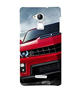 Stylish RED Car 3D Hard Polycarbonate Designer Back Case Cover for Coolpad Note 3