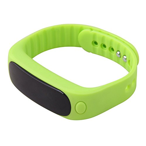 Happy Hours® Bluetooth 4.0 Sync Android IOS Smart Bracelet Sports Fitness Tracker Waterproof IP57 Pedometer Sleep Monitoring Anti-lost Stopwatch Passometer Silicone Wristband E02, Light Green