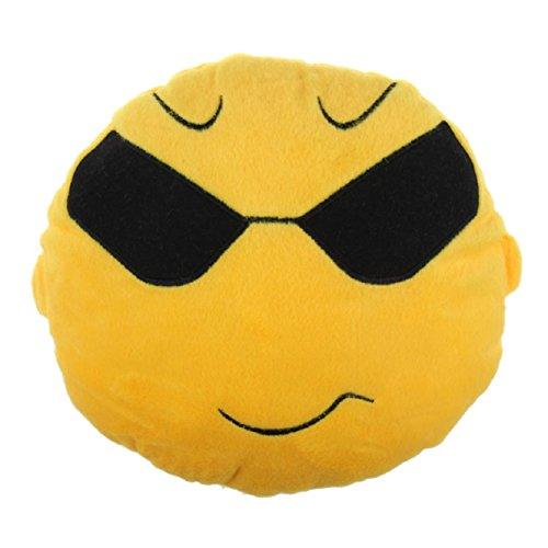 Atdoshop(TM) Autotechnik Sitz-Kopf-Hals Emoji Smiley Niedliches Kissen-Kissen-Spielzeug-Geschenk (sunglass)