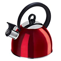 Oggi Stainless Steel Whistling Tea Kettle with Flip Open Spout