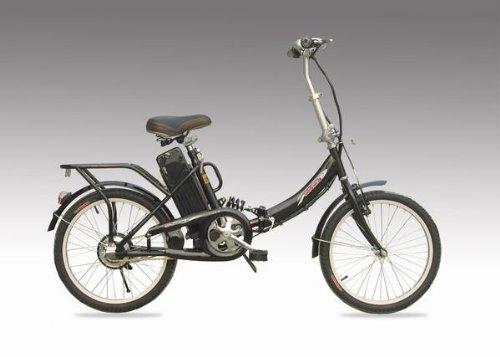 モペット型電動自転車「E-BIKE20h」20インチ 24V12AH大容量バッテリー搭載(ブラック)
