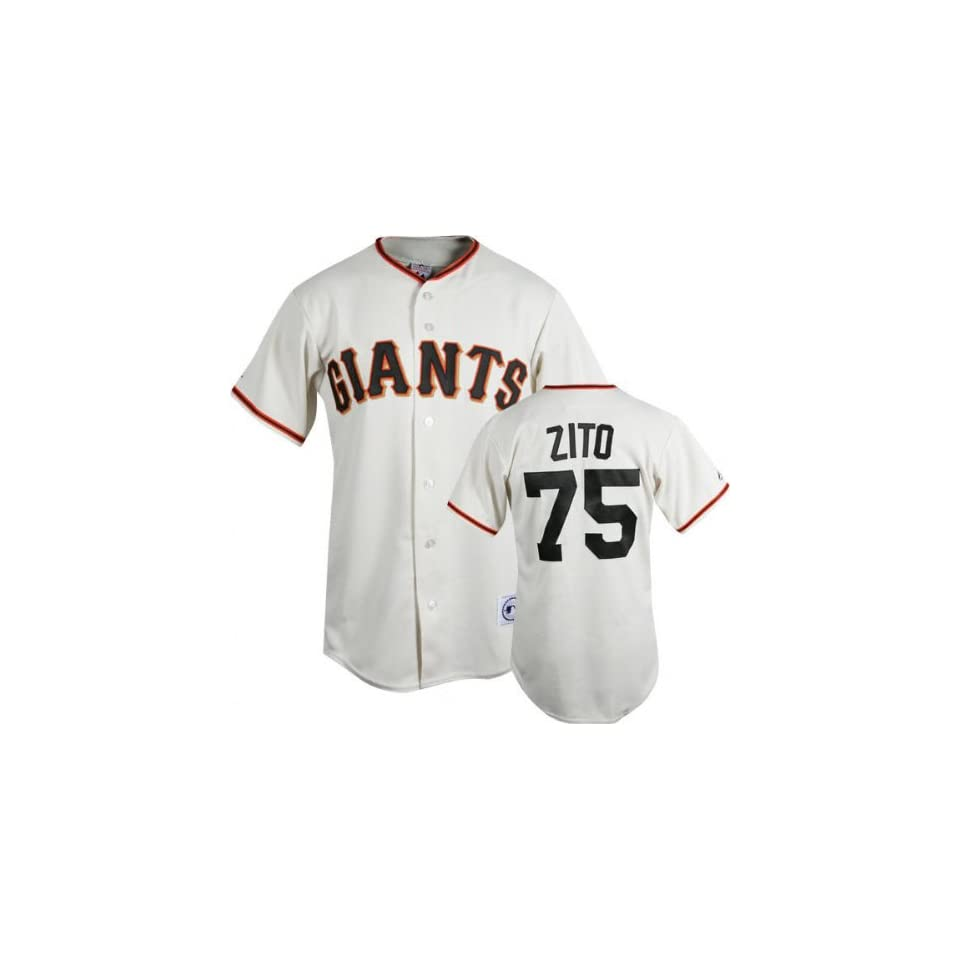 Barry Zito Ivory Majestic MLB Home Replica San Francisco Giants Jersey