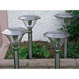 Stainless Steel Solar Jumbo Sierra Lights, Set of 4