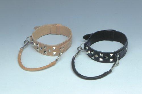 Unbekannt Heim 9613328C Halsband aus Leder für Doggen, mit Zierbeschlägen, 60 mm breit, 65 cm lang, schwarz
