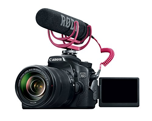 Canon EOS 70D Video Creator Kit with 18-135mm Lens, Rode VIDEOMIC GO and Sandisk 32GB SD Card Class 10