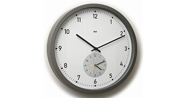 Bai here there dual time wall clock white for Dual time wall clock