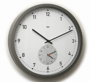 Bai here there dual time wall clock white amazoncouk for Dual time wall clock