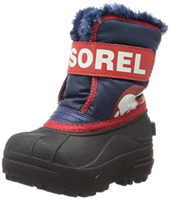 Sorel Snow Commander Winter Boot,Nocturnal/Sail red,4 M US Toddler