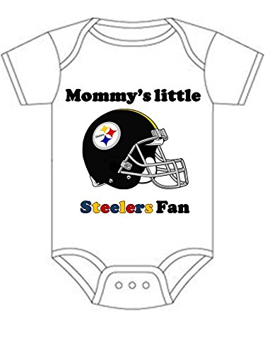 Steelers Mommys Little Fan Shirt Infant Baby Onesie born at Steeler Mania