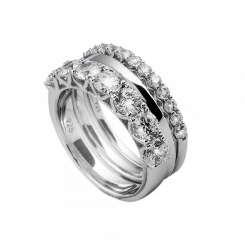 Women Silver Ring 6112411082 Diamonfire zircons