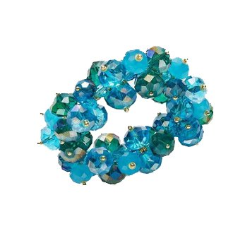 C.A.K.E. By Ali Khan Bracelet, Gold-Tone Blue Green Glass Bead Stretch Bracelet