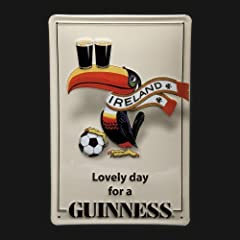 Guinness Toucan Scarf Metal Sign 7.8 x 11.8-inch