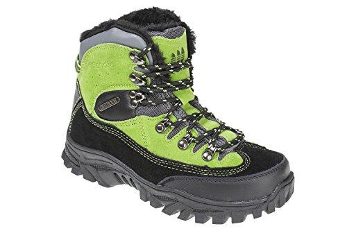 GIBRA® Trekkingschuhe, warm gefüttert, schwarz/grün, Gr. 38