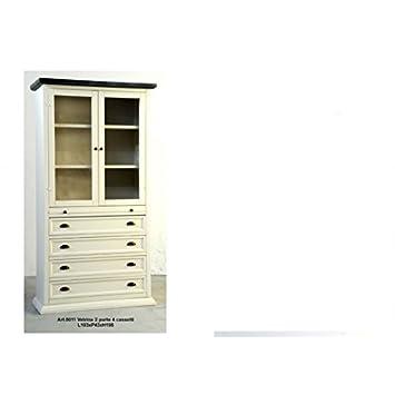 Estea Muebles–mobile vitrina Estantería despensa Country de madera–0011