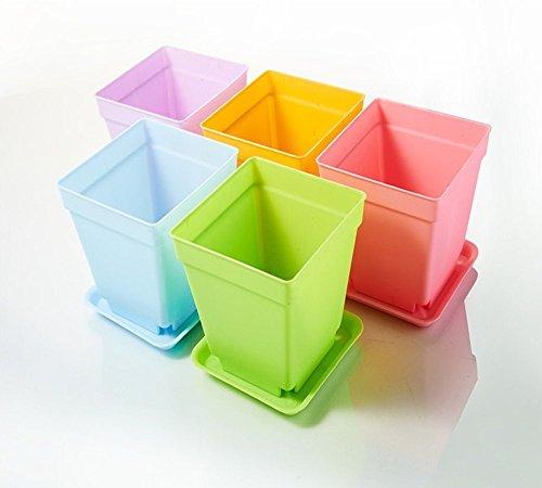 5-x-4-zoll-durchmesser-aus-kunststoff-quadratisch-pflanztopf-ubertopf-blumentopf-mit-palette-tablett