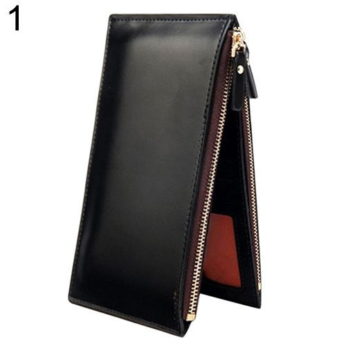 Money coming shop 2016 Mens Fashion Long Faux Leather Zipper Id Credit Card Holder Bifold Wallet (Jack Spade Iphone 4s Case compare prices)
