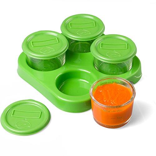 glass baby food jars 4pk 2oz microwavable freezer dishwasher safe toddler nursing feeding. Black Bedroom Furniture Sets. Home Design Ideas