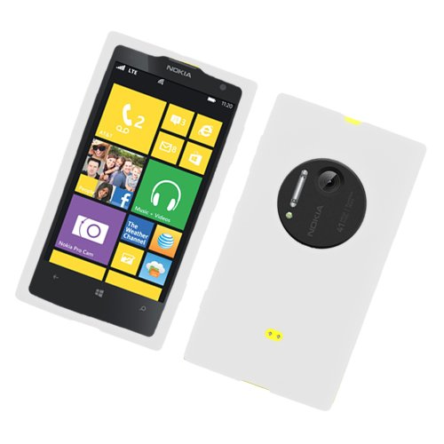 Eagle Cell Nokia Lumia 1020/Elvis Soft Rubberized Phone Case - Retail Packaging - White