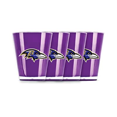 NFL Baltimore Ravens Shot Glass Set (4-Piece)